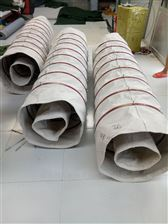 水泥厂出料口输送耐磨帆布伸缩节