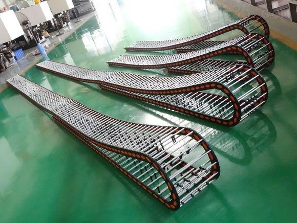 带钢厂用粗精轧金属可开式电缆拖链