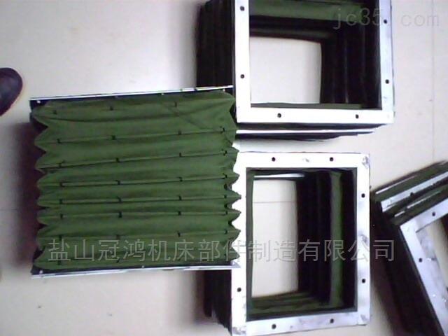 绿色帆布方形软连接风管