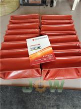 红色硅胶布耐高温风道口软连接报价