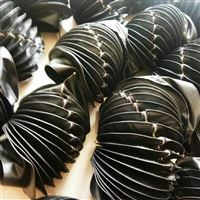 缝制式圆罩,耐高温圆形风琴防护罩