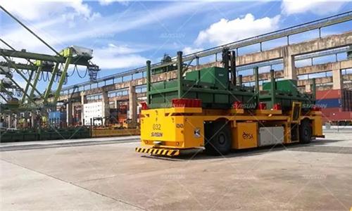 新松港口移动机器人进驻新加坡港 额定负载高达65吨