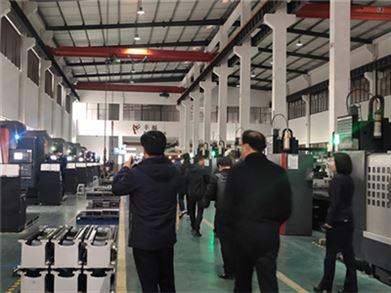 中國機床工具工業協會車床分會一行參觀金火機床